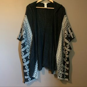 3 for $20! Garage poncho, sweater
